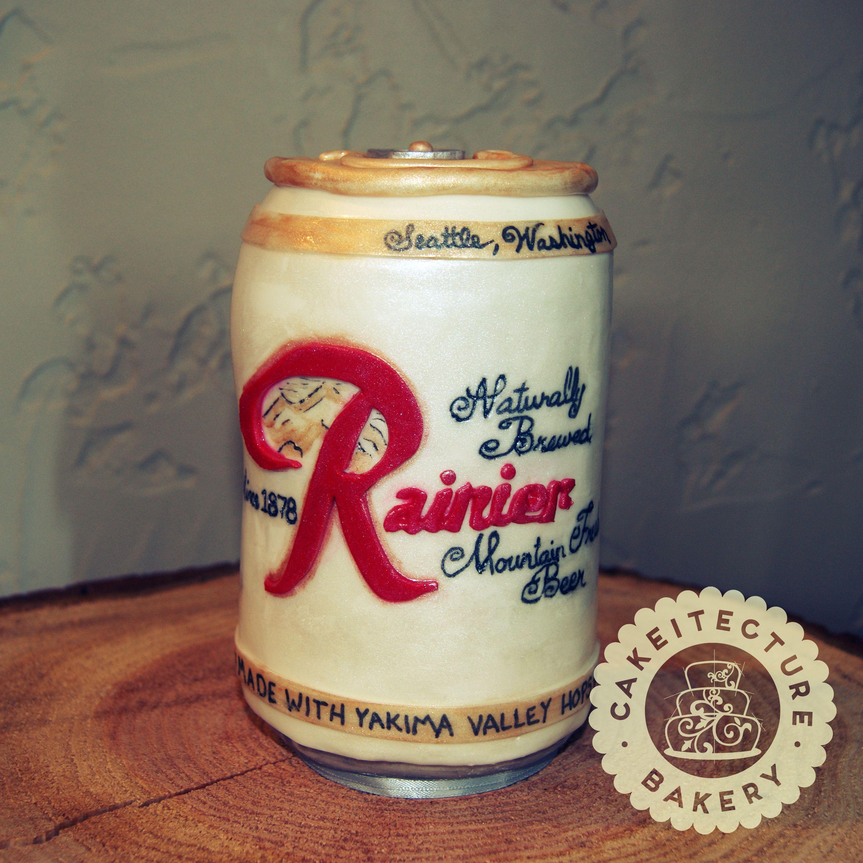 Rainier Beer Can Cake Beer Cake Beer Can Cakes Beer Cookies