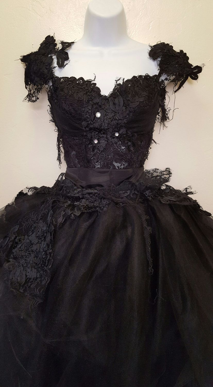 Bella black swan goth victorian inspired lace corset