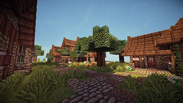 17 Medieval Town Temes Schematic Minecraft Project