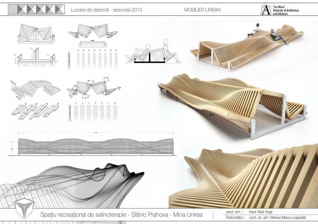 Mobilier urban design parametric diploma arhitectura 4 for Meubles urban design