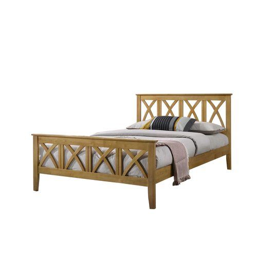 Beachcrest Home Rushmore High Foot End Bed Frame Wooden Bed