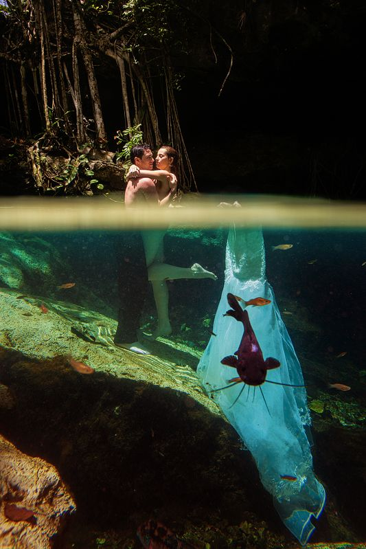 underwater trash the dress riviera maya
