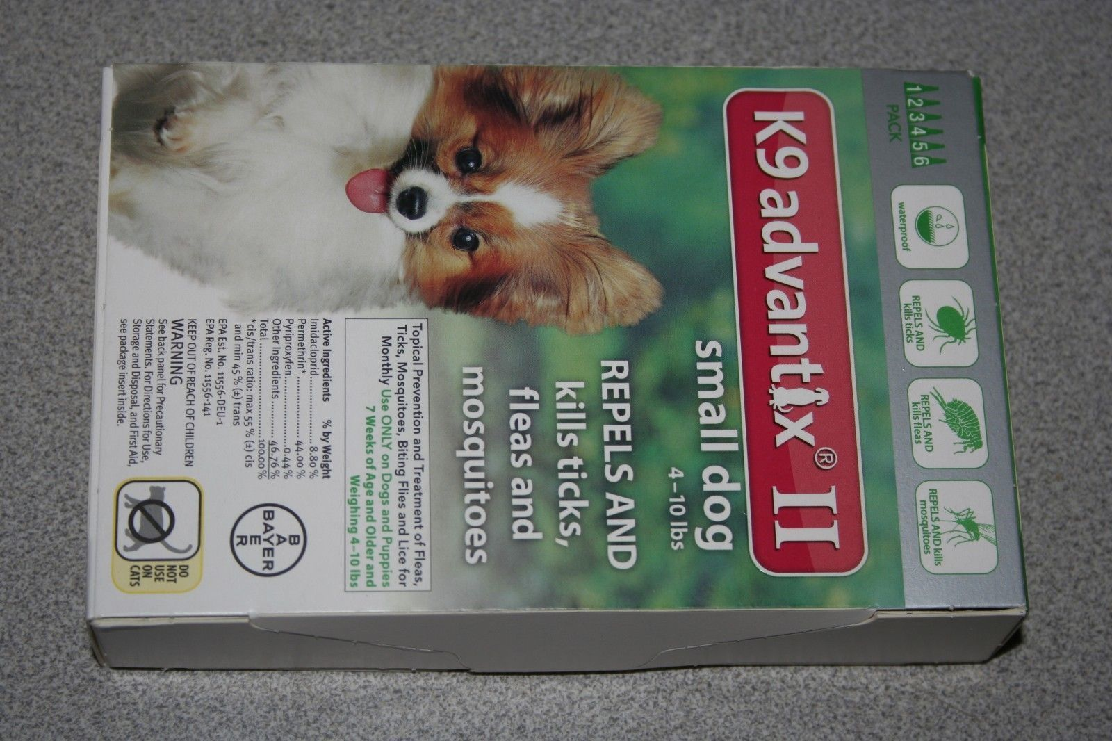 Flea And Tick Remedies 20749 Bayer K9 Advantix Ii Small Dog 4 10lbs 6 Month Pack New Buy It Now Only 59 25 On Ebay Fleas Small Dogs Flea And Tick