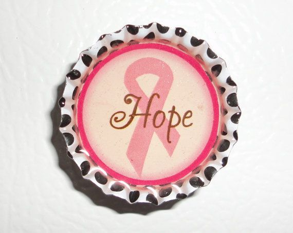 Hope Pink Ribbon Magnet by LucysRome on Etsy, $4.99