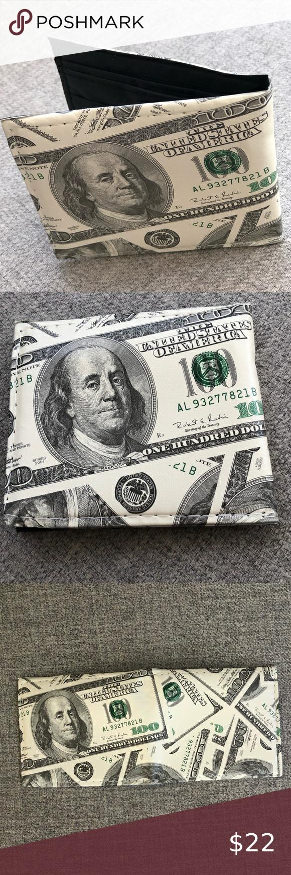 Wallet Hundred Dollar Bill Design Lightweight Wallet Tommy Hilfiger Wallet Brown Leather Wallet