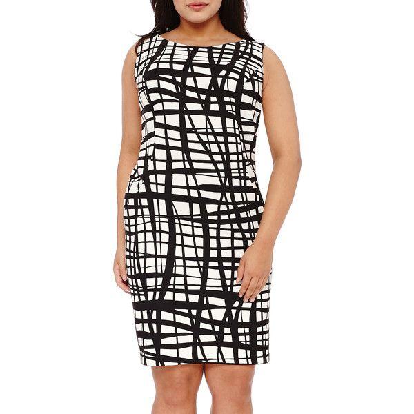 Alyx Sleeveless Grid Sheath Dress 32 Liked On Polyvore