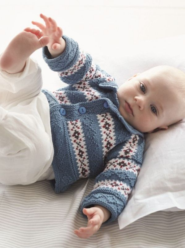 Debbie Bliss Baby Cashmerino 5, Fair Isle Cardigan | Baby ...
