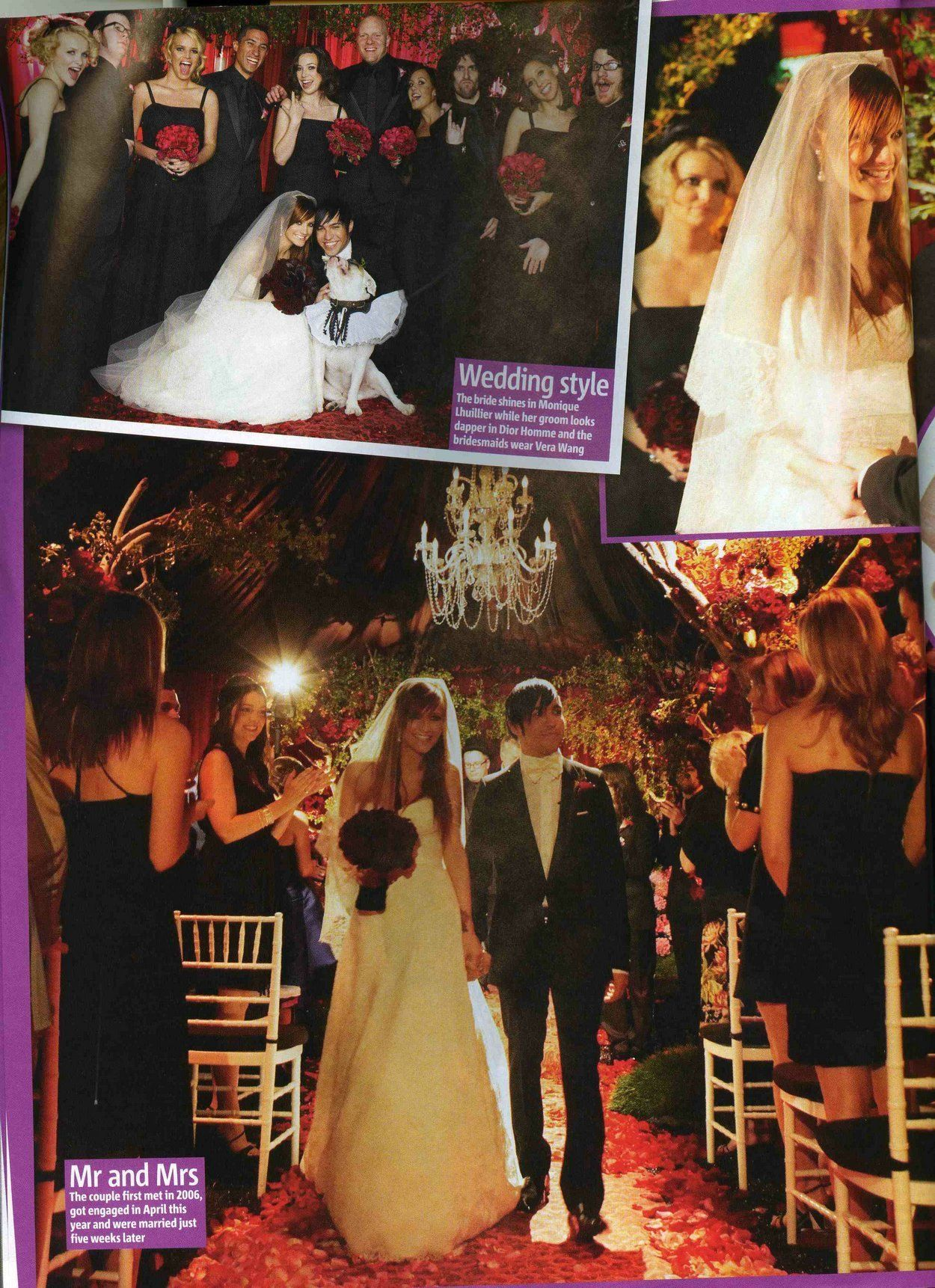 Pete Wentz And Ashlee Simpson But A Beautiful Wedding Love The Darker Fl Oh Yes What Shame Poor Grooms Bride Is