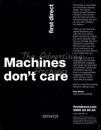 The Advertising Archives Magazine Advert First Direct 2000s Magazine Advert Adverts Advertising Archives