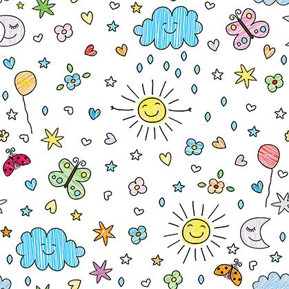 Sunny Doodle Kids Doodles Kids Room Wallpaper Kids Cute wallpapers for kids boys