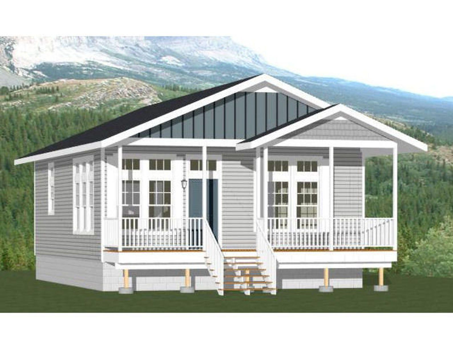 26x32 House 2 Bedroom 2 Bath 832 Sq Ft Pdf Floor Plan Etsy In 2021 Cottage Style House Plans House Plans Small House Design