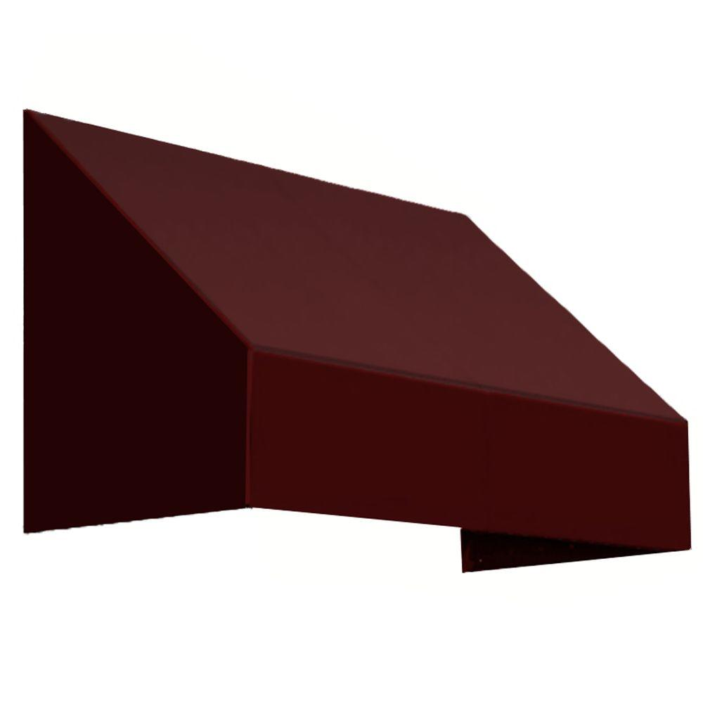 Awntech 16 Ft New Yorker Window Awning 31 In H X 24 In D In Burgundy Red Canvas Awnings Awning Retractable Door