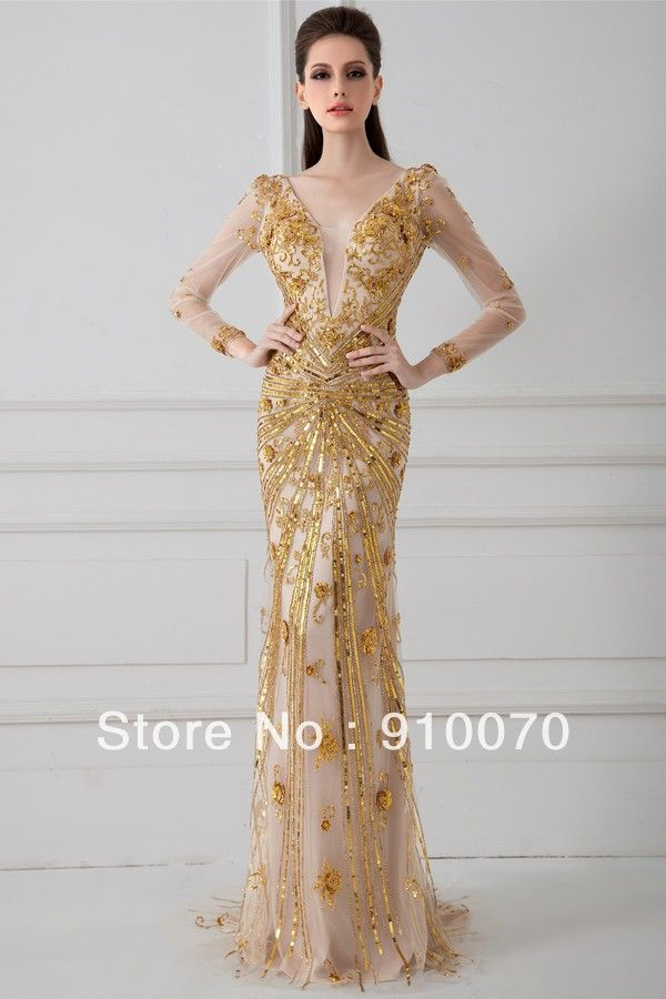 10  images about Gold Gowns on Pinterest - Alibaba group- Prom ...