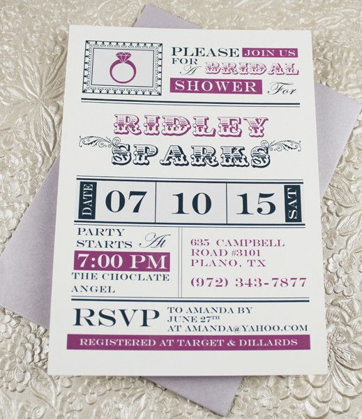 Vintage Ring Bridal Shower Invitation Template Invitation - free bridal shower invitation templates printable