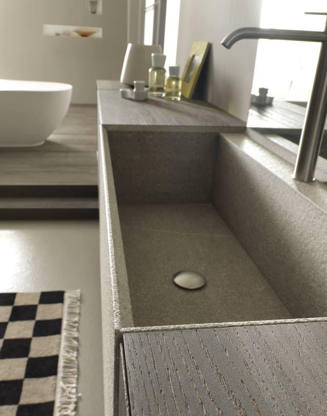 Resina cemento top mobli bagno trento arredamenti roma - Top cucina in cemento ...