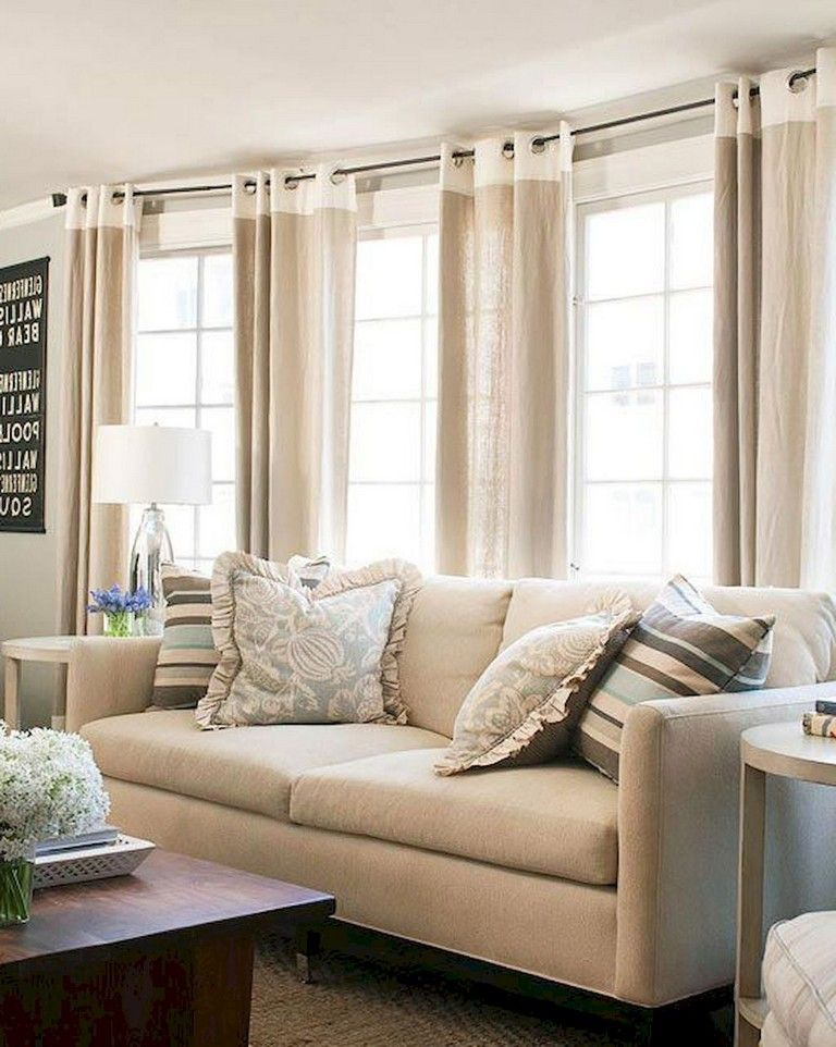 80 Lovely Curtains For Living Room Window Decor Ideas Living Room Window Decor Living Room Windows Curtains Living Room