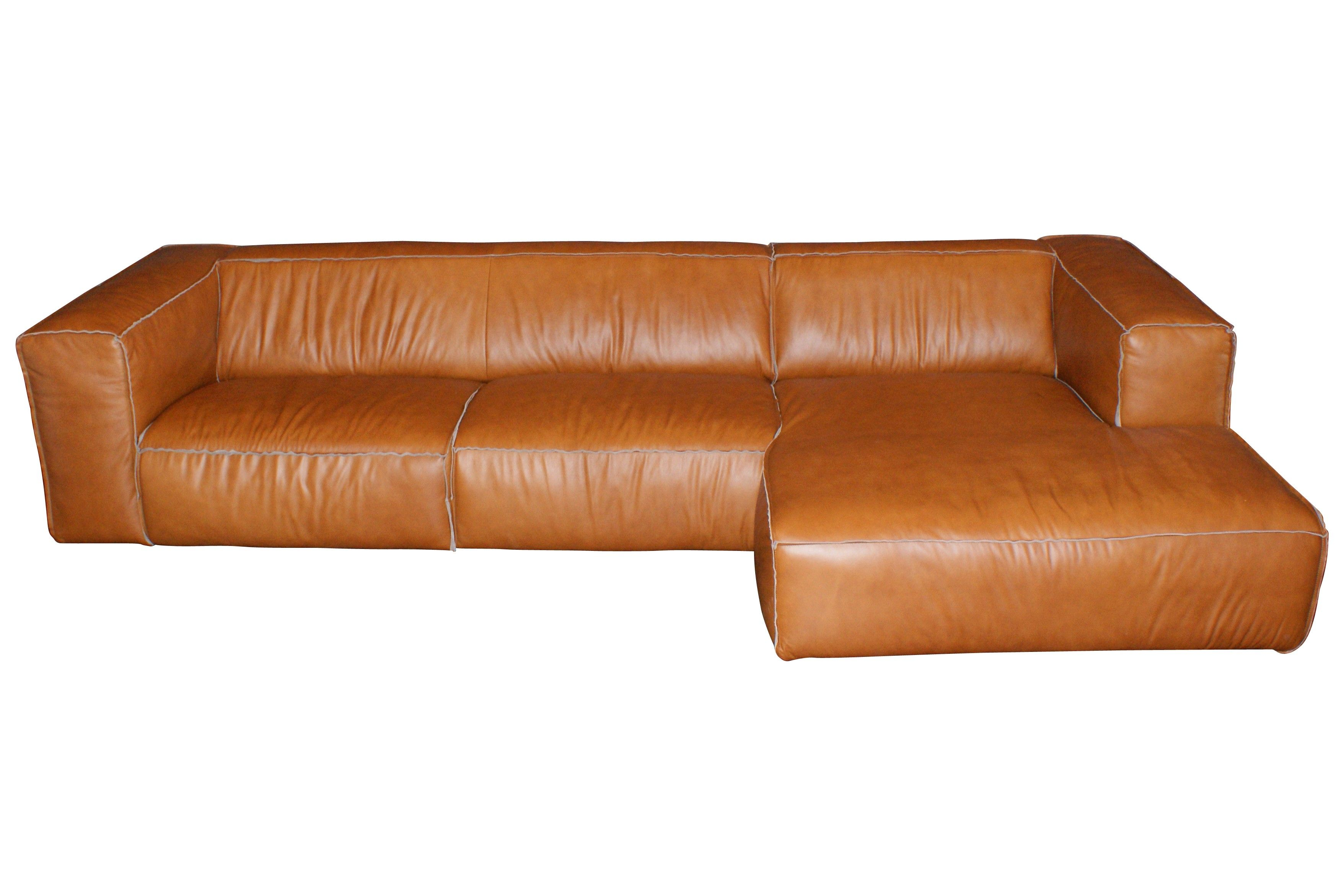 Cognac Leather Sofa - Google-haku