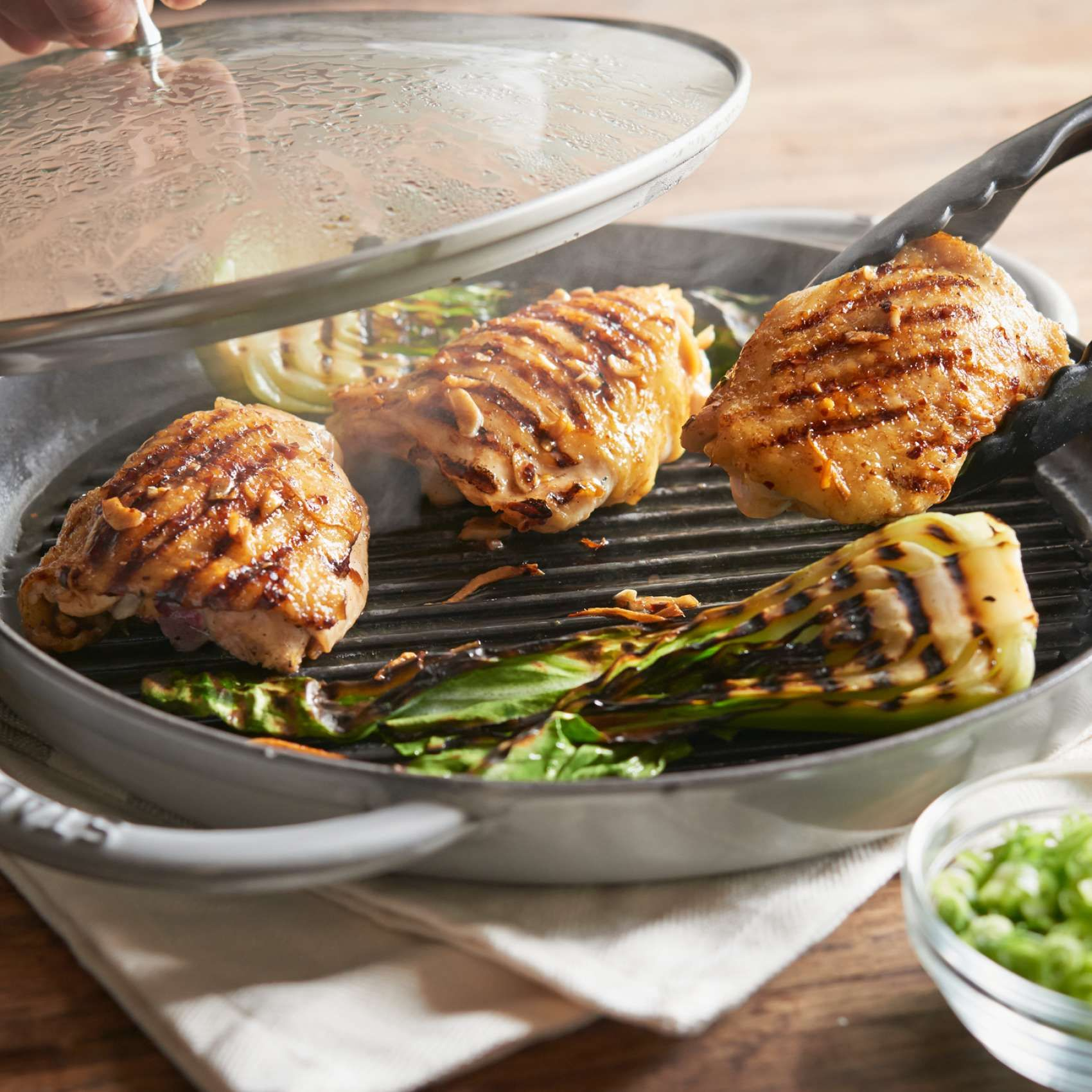 Staub Steam Grill 12 Quot Sur La Table Staub Recipe Grilling Food
