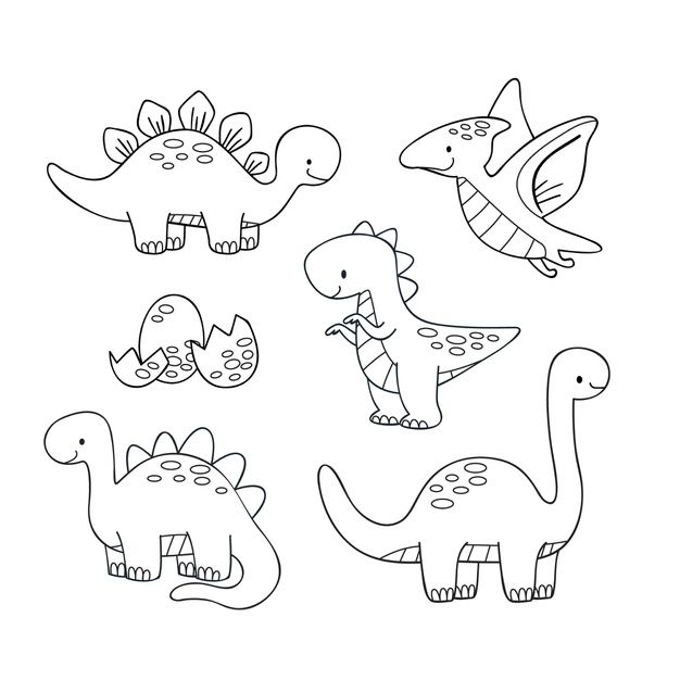 Cute coloring for kids with dinosaurs Fr... | Premium Vector #Freepik #vector #design