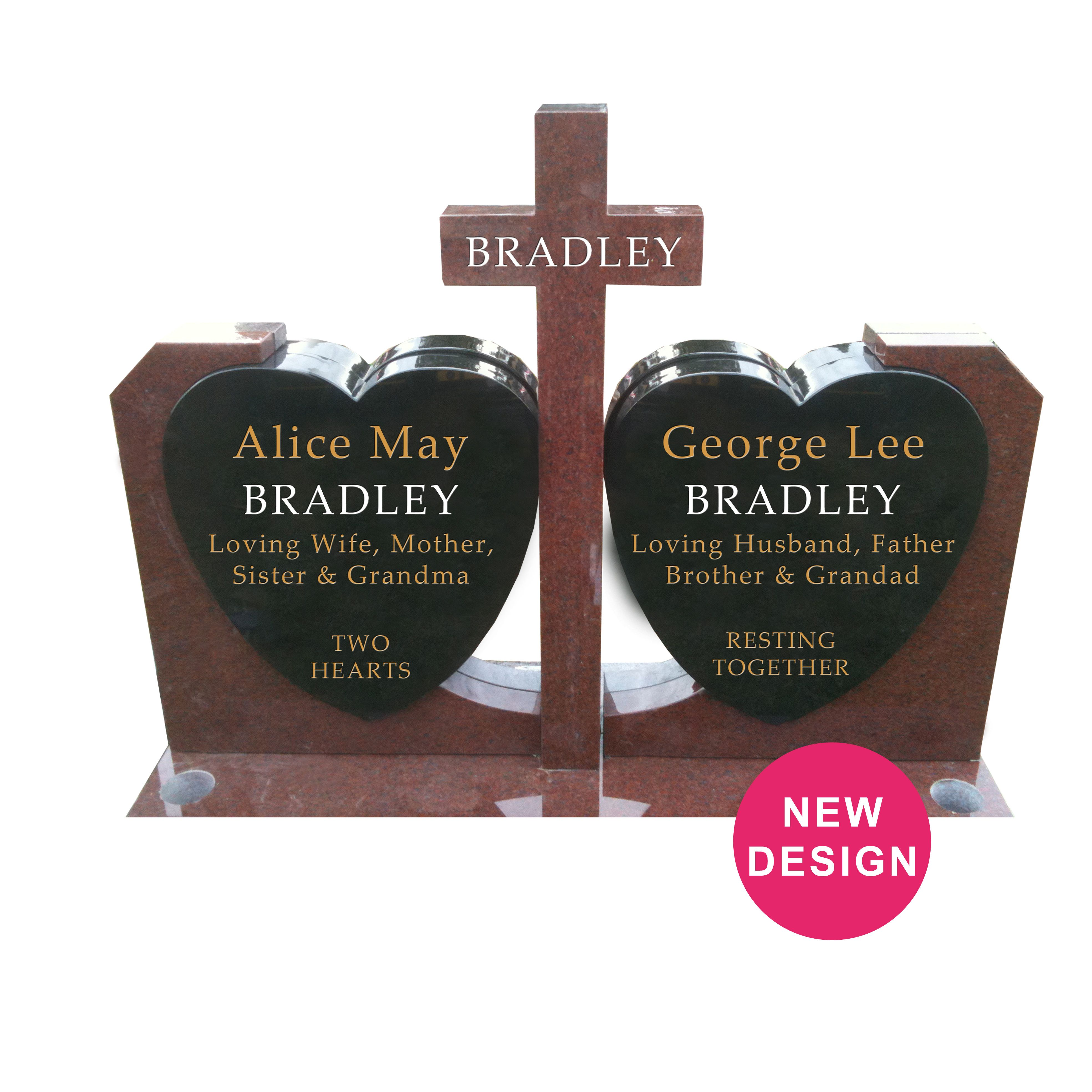 Cross And Hearts Statue Headstone Designed By Forever Shining Design One Today On Our Website Using Our 3d Software Online Online Headstones Design Plaque
