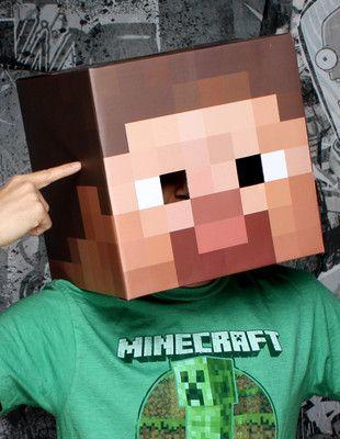 Minecraft head to do for James next Halloween! Lol! DIY costumes - minecraft halloween costume ideas