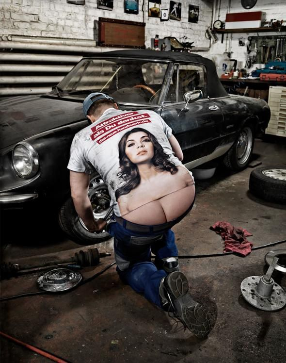The German Crafts: The Craftsmen's Boobs, Mechanic | Ads of the World™
