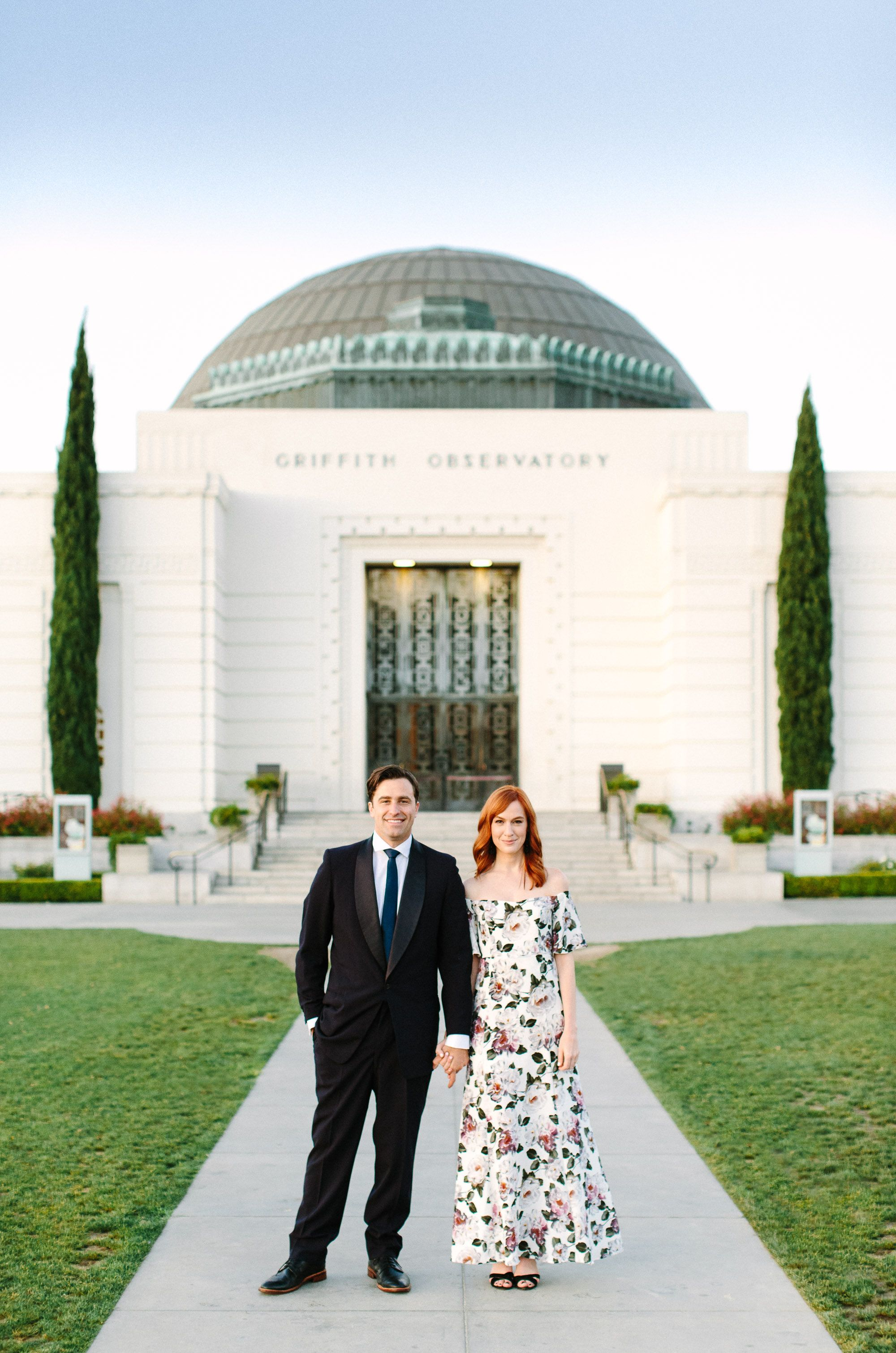 Griffith Observatory Engagement Session At Sunrise Los Angeles Engagement Photos Griffith Observatory Wedding Griffith Observatory