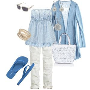 blue futzing outfit