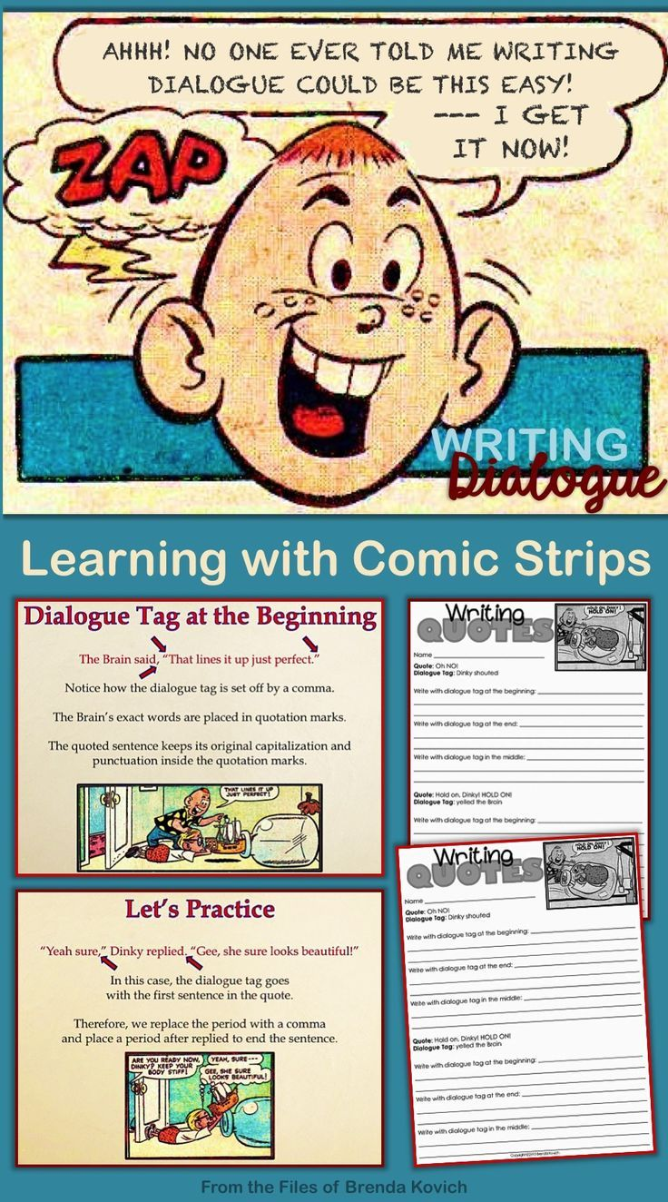 Writing Dialogue with Comic Strips Capitalizing and