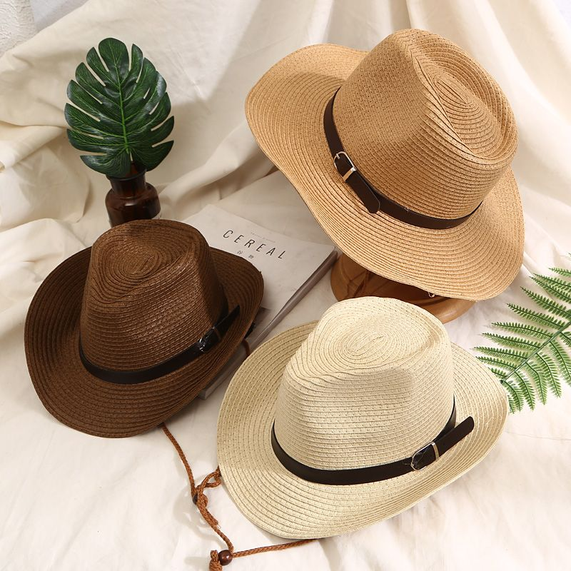 acquistare Cappello del Sole delle donne Big Bow Wide Brim Floppy Estate  Cappelli Per donne Beach Panama Cappello Di Paglia Della Benna Protezione  Solare ... 311bdcc4f76a