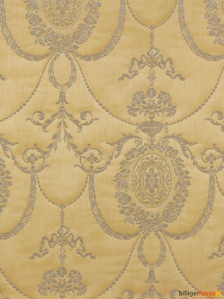 tapeten rasch trianon 513035 vliestapete ornamente ocker silber tapeten rasch trianon 2015. Black Bedroom Furniture Sets. Home Design Ideas