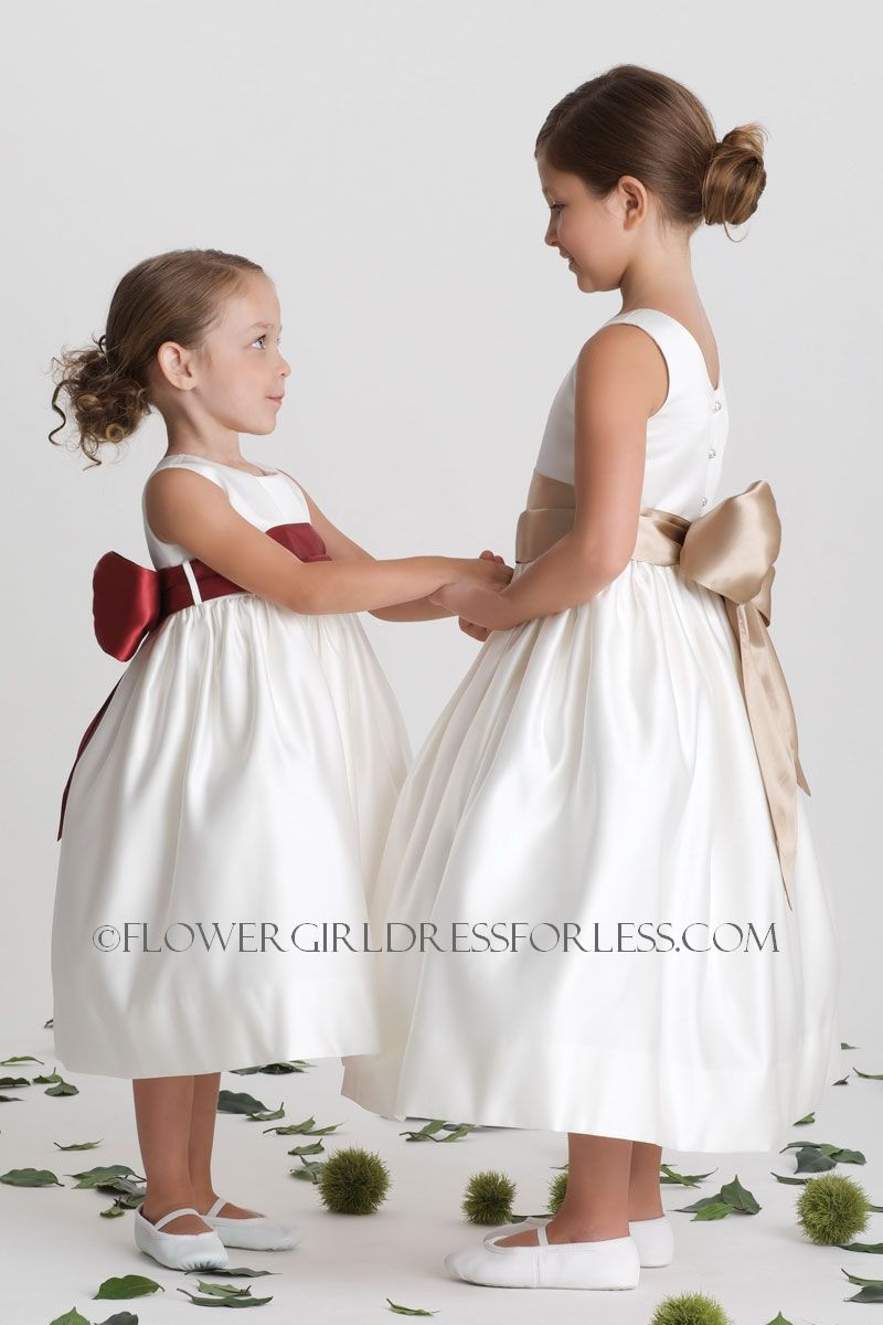 1000  images about Flower Girl Dresses on Pinterest - Satin ...
