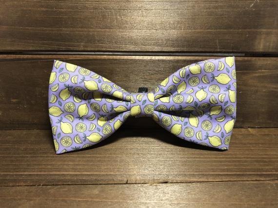 Fresh Squeezed Lemonade Dog Bow Tie, Lemonade Bow, lemons bow tie, Gifts for Dog Mom, Gifts for Her #freshsqueezedlemonade