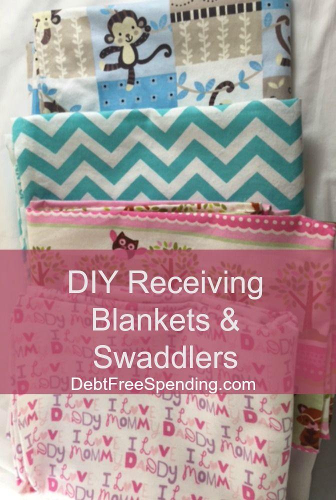 How To Make Your Own Homemade Swaddling Blanket Receiving Blankets Debt Free Spending Receiving Blankets Diy Diy Baby Stuff Baby Receiving Blankets