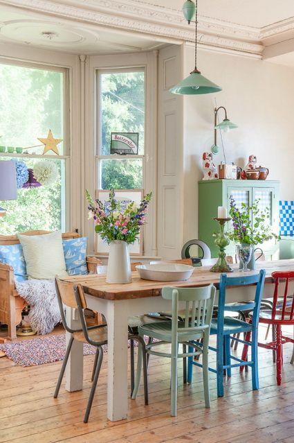 Comedores con sillas diferentes | muebles | Cottage dining rooms ...