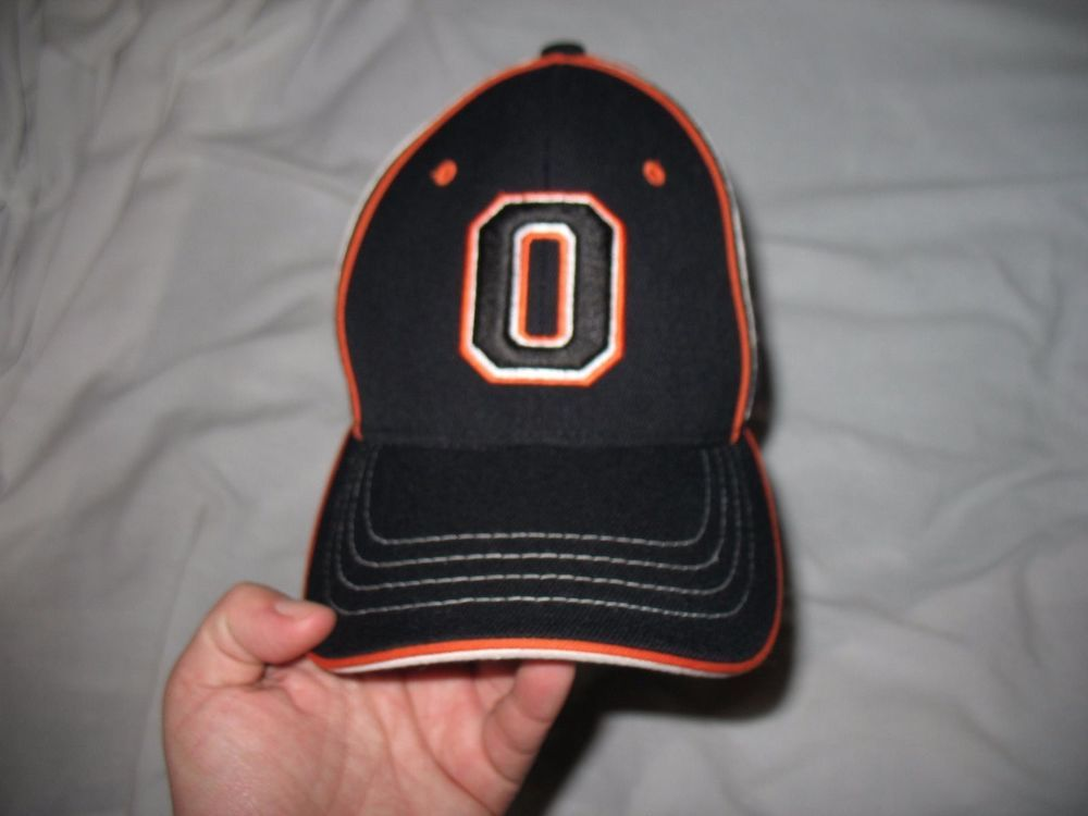 state beavers baseball cap black white orange oregon shirt hat on field fitted