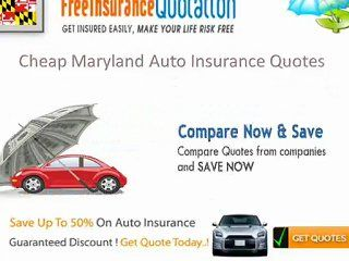 Cheap Maryland Auto Insurance Rates Coverage Laws Requirements Video Dailymotion Car Insurance Auto Insurance Quotes Cheap Car Insurance