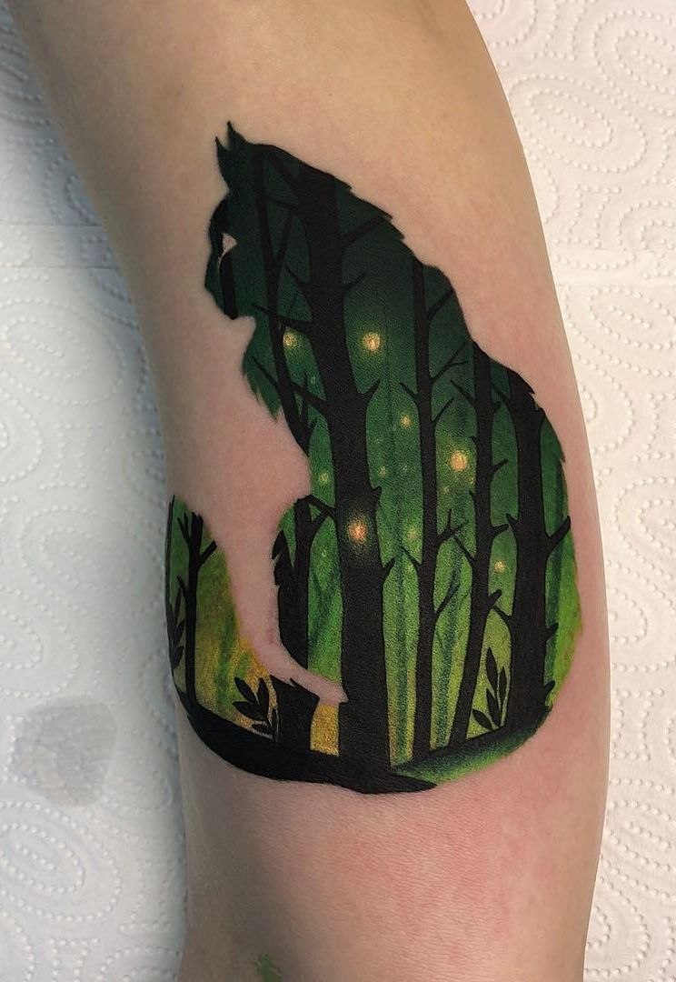 Daria Stahp Creates Vibrant Double-Exposure Tattoos