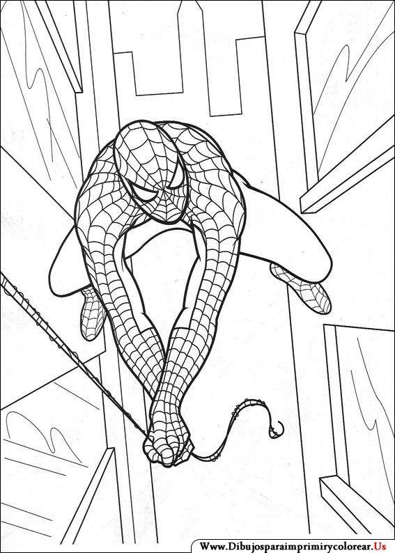 Dibujos de Spiderman para Imprimir y Colorear | Etiquetas ...