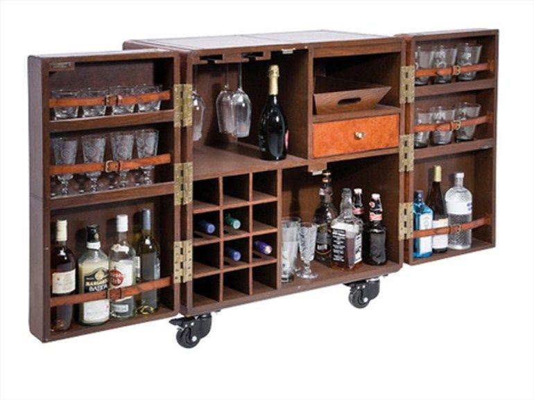 Mueble bar de madera lodge colecci n lodge by kare design for Mueble bar madera