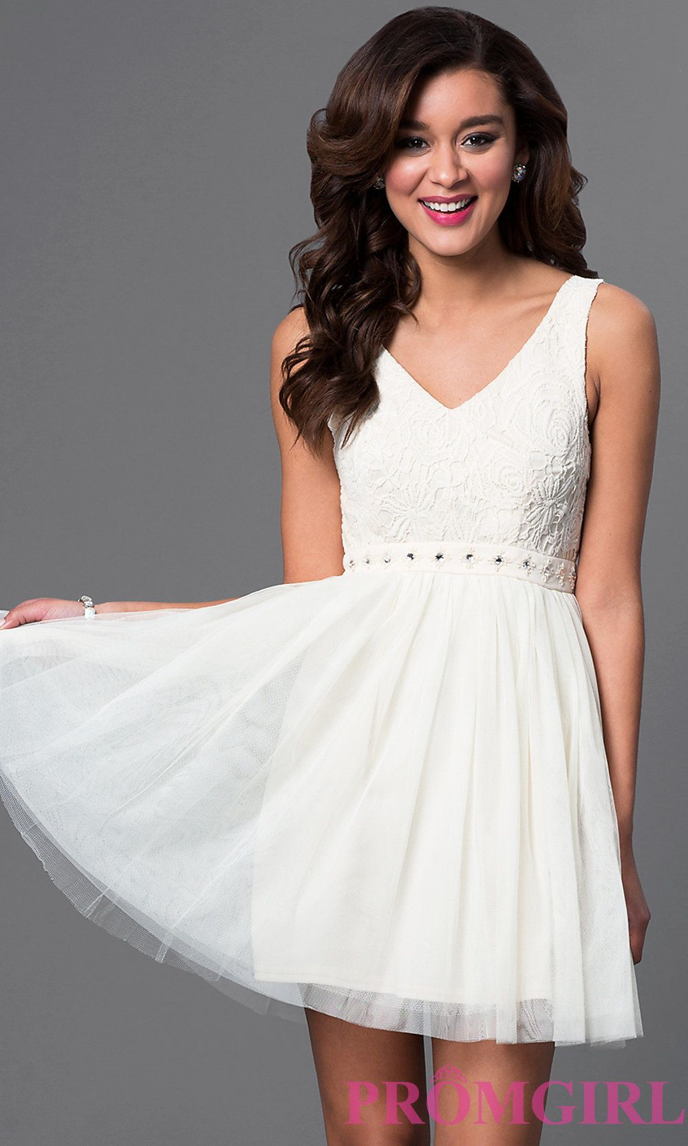 Beige Nude Short Homecoming Party Dress - PromGirl