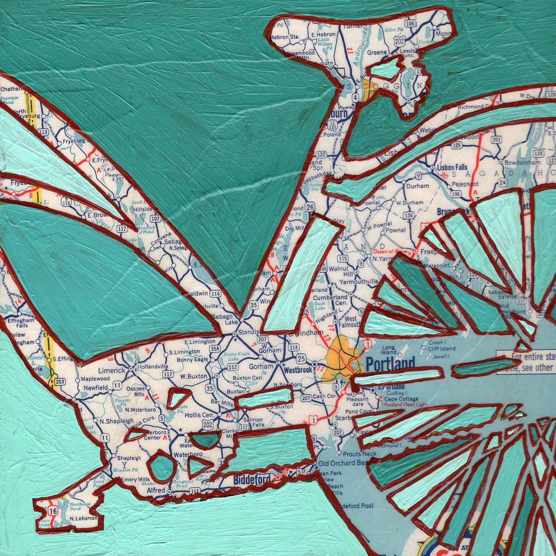 Bikes Portland Maine Bike Portland Maine print