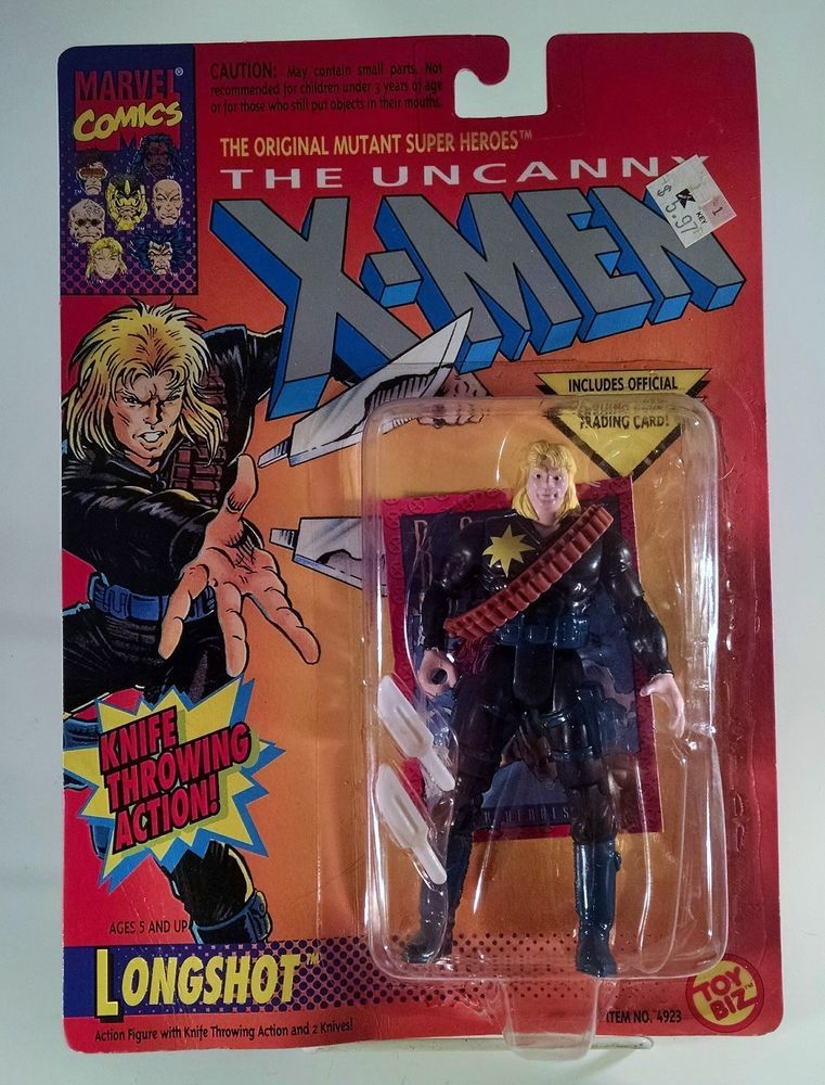 MARVEL Uncanny X-MEN LongShot action Figure 1993 nib Marvel Toy Biz Free Ship #ToyBiz