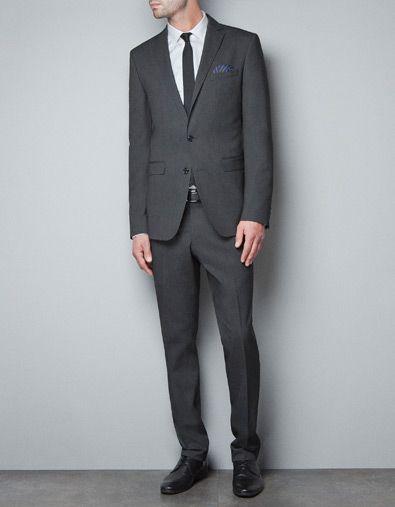 diagonal weave blazer suits man zara canada career. Black Bedroom Furniture Sets. Home Design Ideas