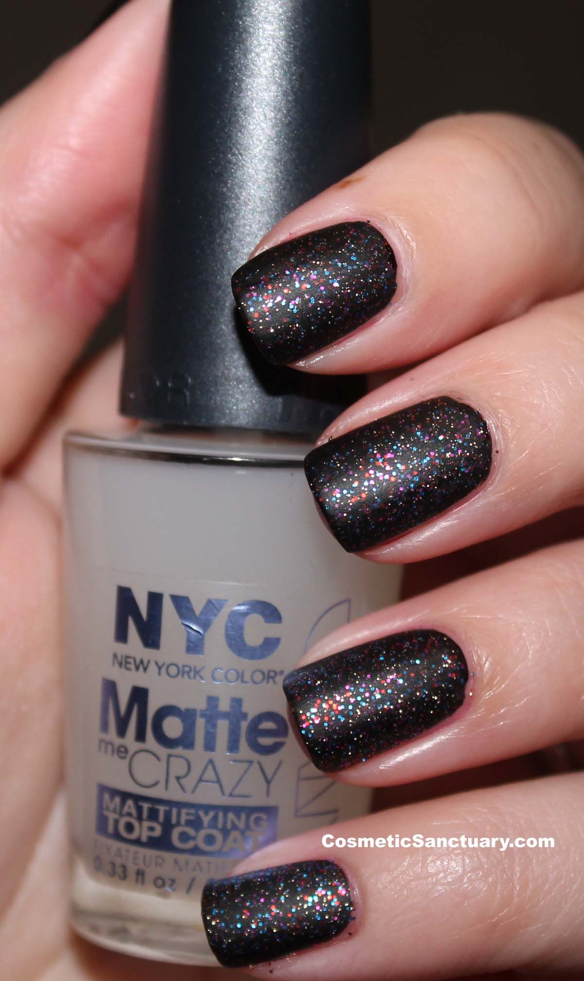 Nyc Big City Sparkle And Matte Me Crazy Review And Swatches Hair