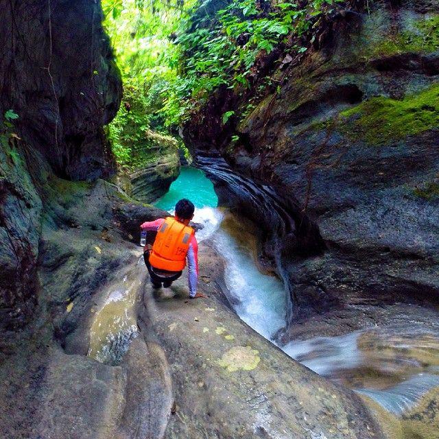 Let life surprise you. ♥ #rodrajtraveldiaries - Location : Matutinao River Canyon, Badian