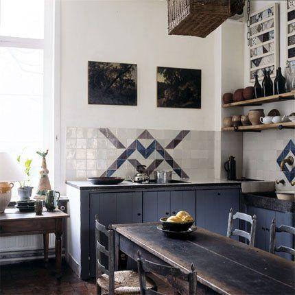 Une cuisine à l\u0027ancienne aux styles mélangés kitchen Pinterest - cuisine a l ancienne