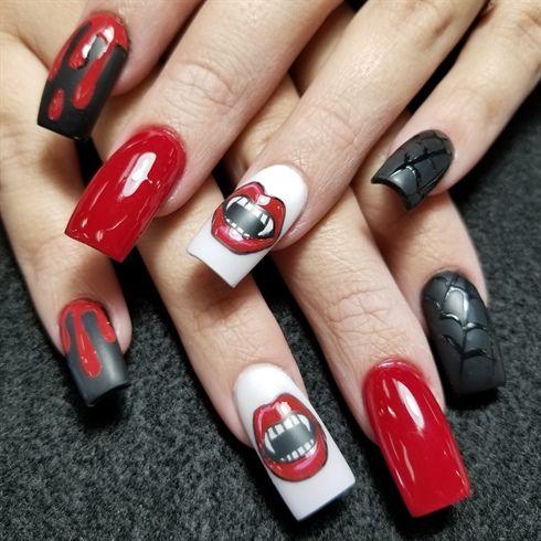 Vampire nails by Oli123 from Nail Art Gallery - Vampire Nails By Oli123 From Nail Art Gallery Halloween Nail Art
