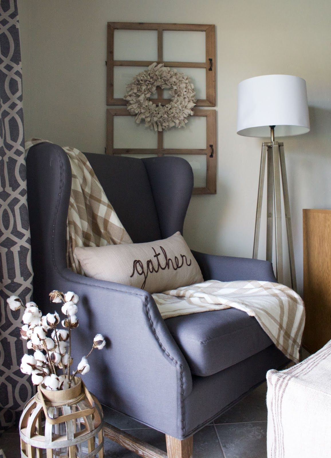 DIY Drop Cloth Wreath - perfect Fall wreath! | Living room ...