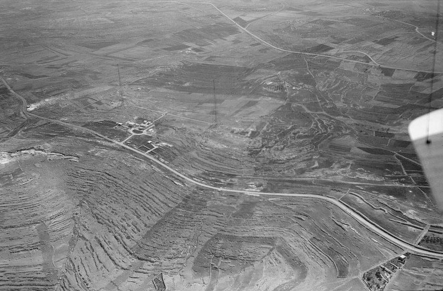 Ramallah - رام الله : Ramallah - Aerial view, 10-7-1937 - Radio masts